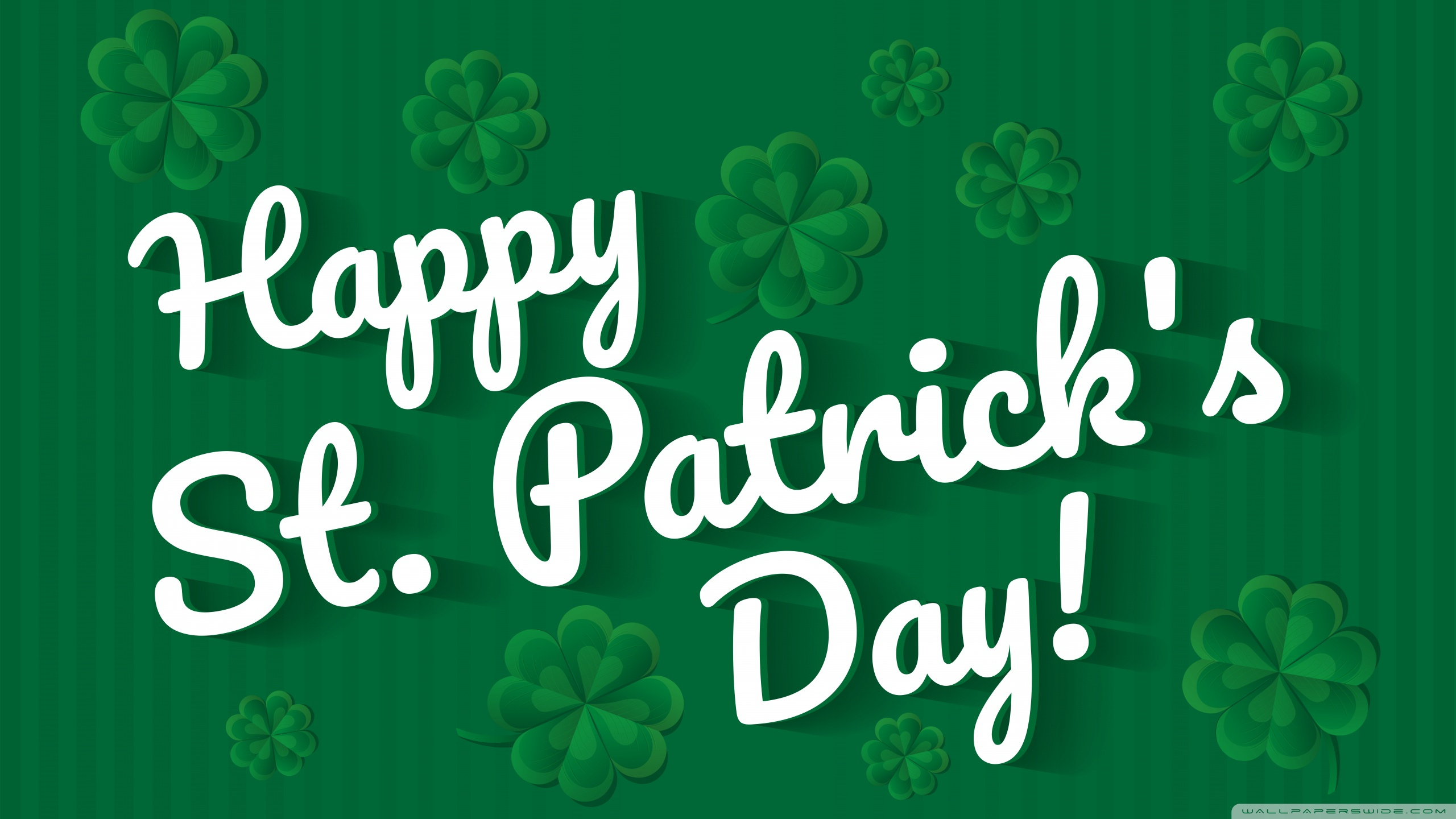 Happy Saint Patricks Day 2020 Ultra HD Desktop Background 2560x1440