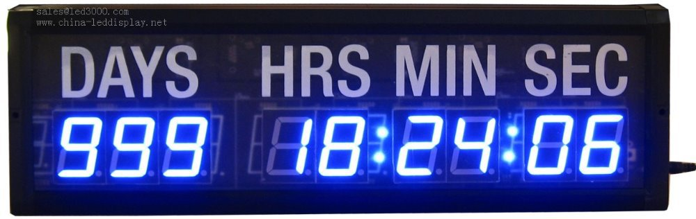 hoursminutes and seconds led countdown clock timerwall clockfree 1000x316