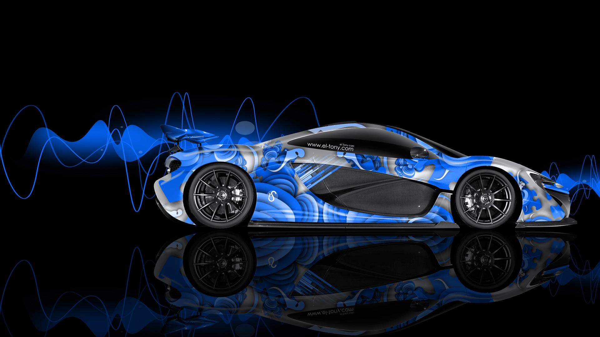 mclaren p1 gtr frontup blue fire abstract car 2014 hd wallpapers 1920x1080