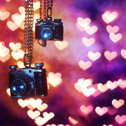 Bokeh camera girly heart photography pink Wallpaper in Pixels 500x499