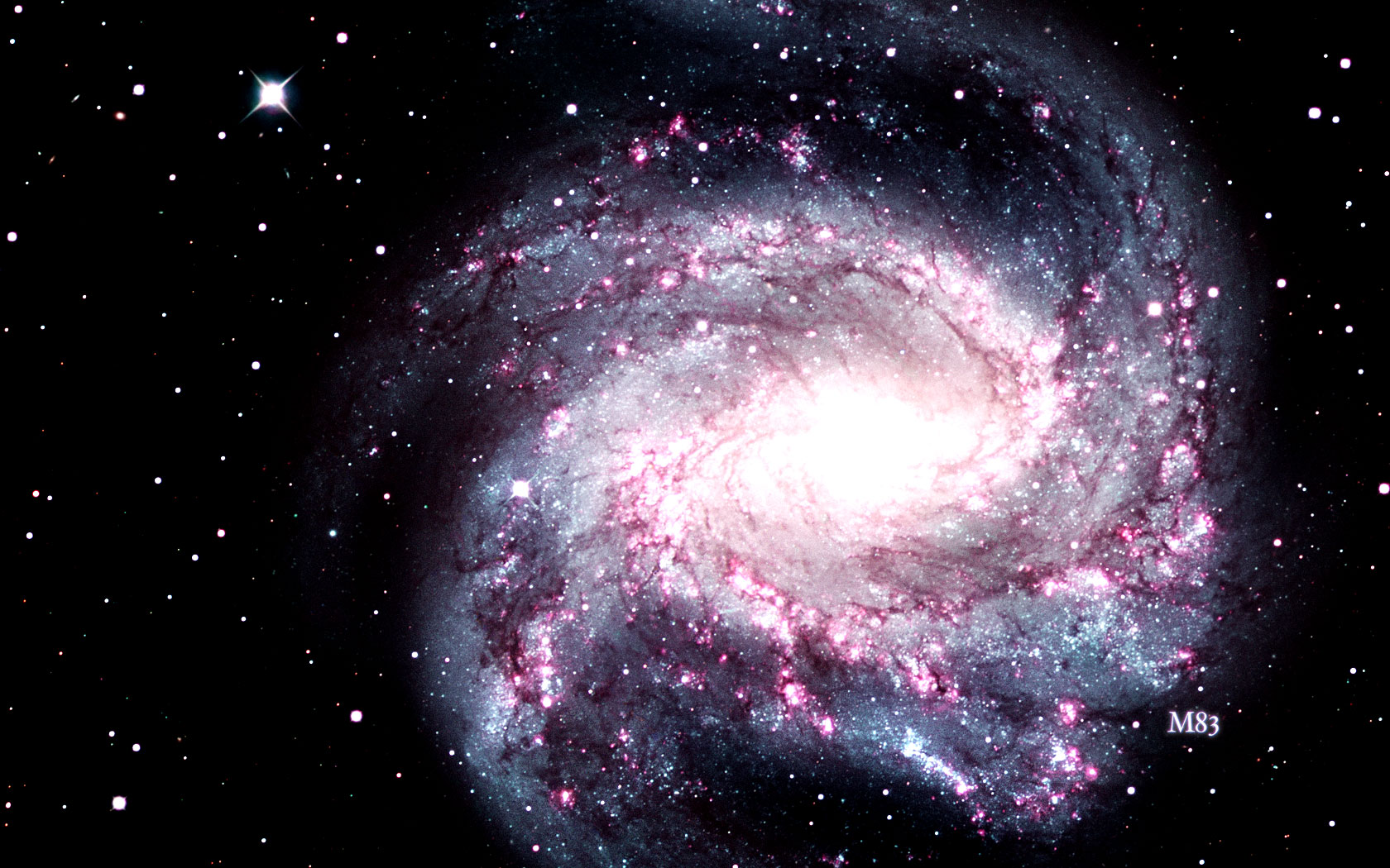 Image Gallery messier 83 wallpaper 1680x1050