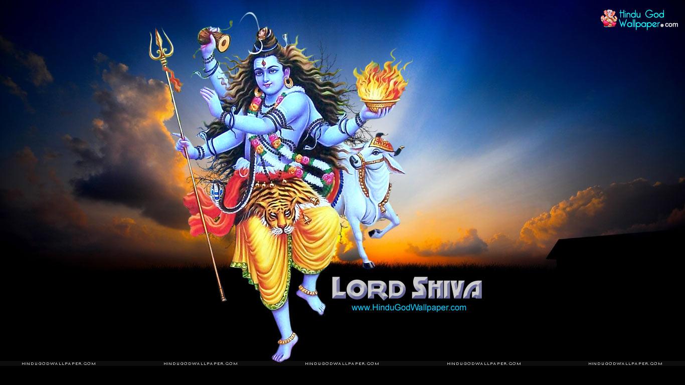 1366x768 Lord Shiva Desktop Background: HD God Wallpaper