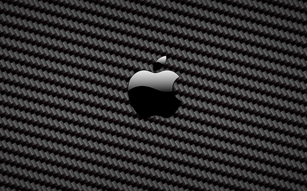 Carbon fiber Apple logo wallpaper   Apple Hires Man to Make Carbon 615x384