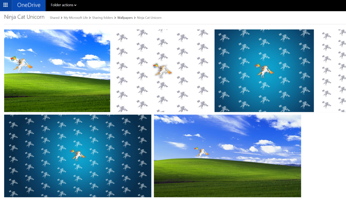 Here is the Microsoft Ninja Cat on a Unicorn for your Microsoft Band 1200x696