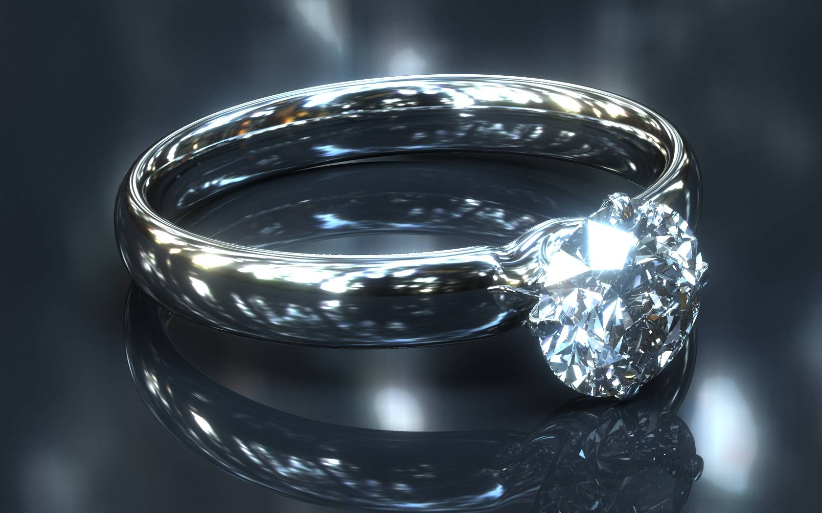 Free Download Diamond Ring Diamonds Wallpaper 1680x1050 For Your