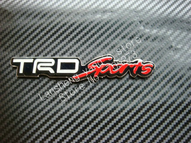 free shipping 50pcs TRD sports 3D Car logo sticker car logo sticker 640x480