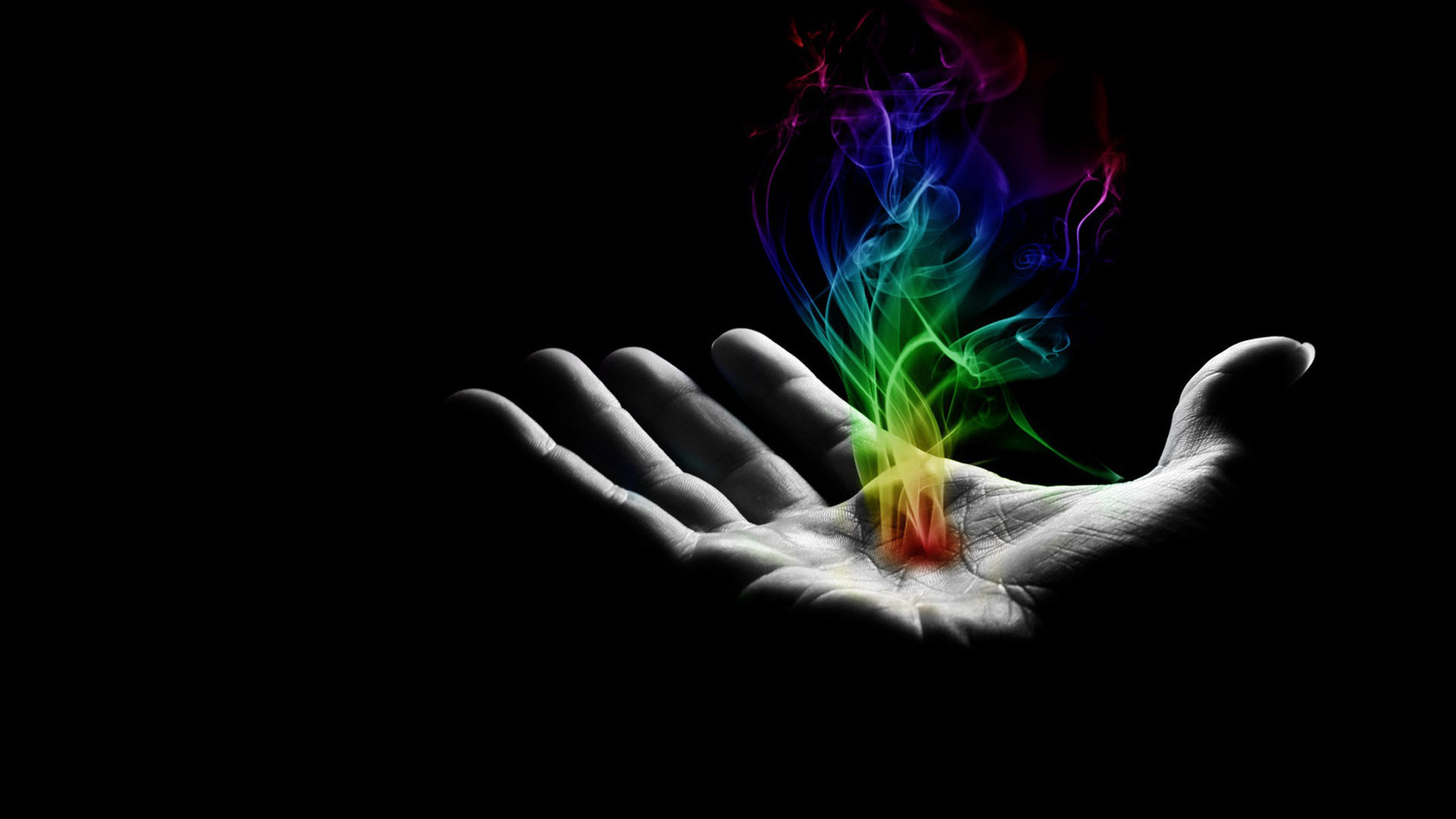 Colorful smoke in hand wallpaper 620 1920x1080
