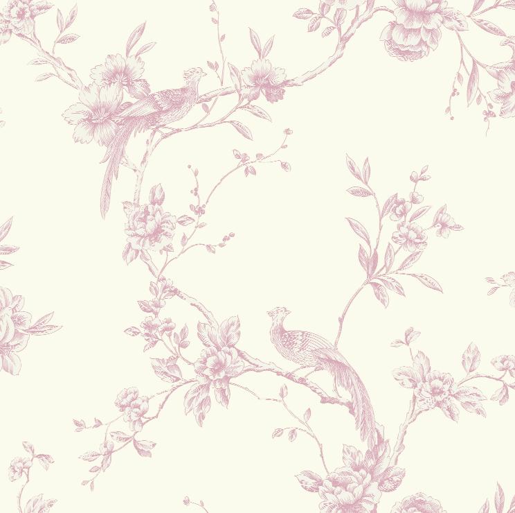 Shabby chic wallpaper wallpapersafari for Toile shabby chic