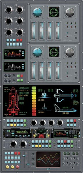 Spaceship Control Panel Wall Mural   Novelty Wallpaper 288x600