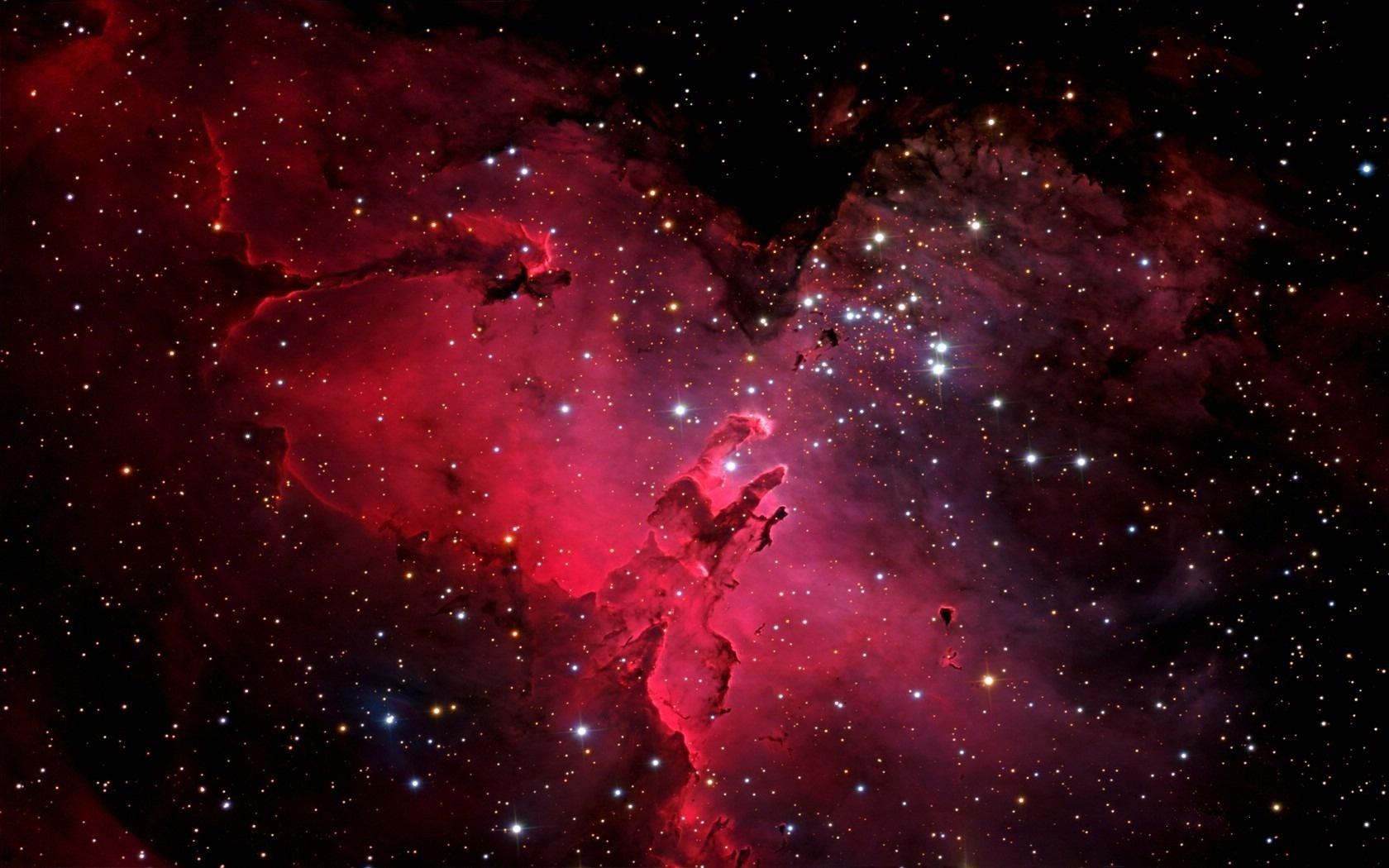 Wallpaper space galaxy nebula stars Eagle Nebula M16 NGC 6611 1680x1050