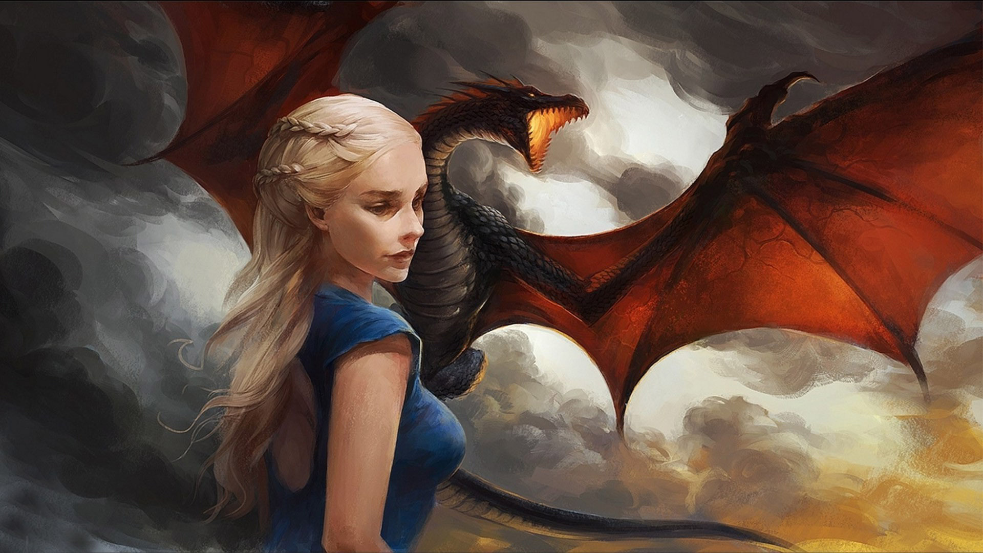 Daenerys Targaryen Hd Wallpaper on game of thrones wallpaper