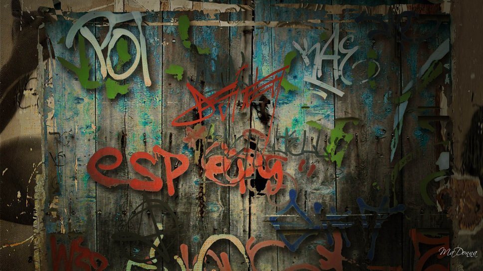 Graffiti Wall wallpaper 969x545