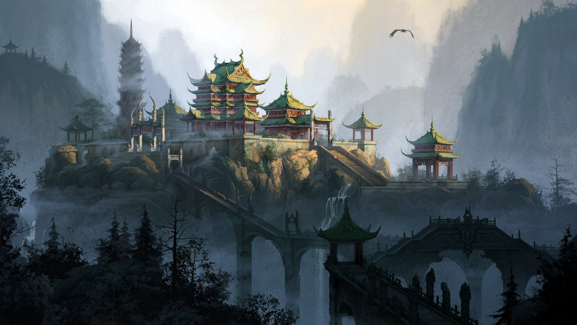 Chinese Background Wallpapers WIN10 THEMES 1920x1080