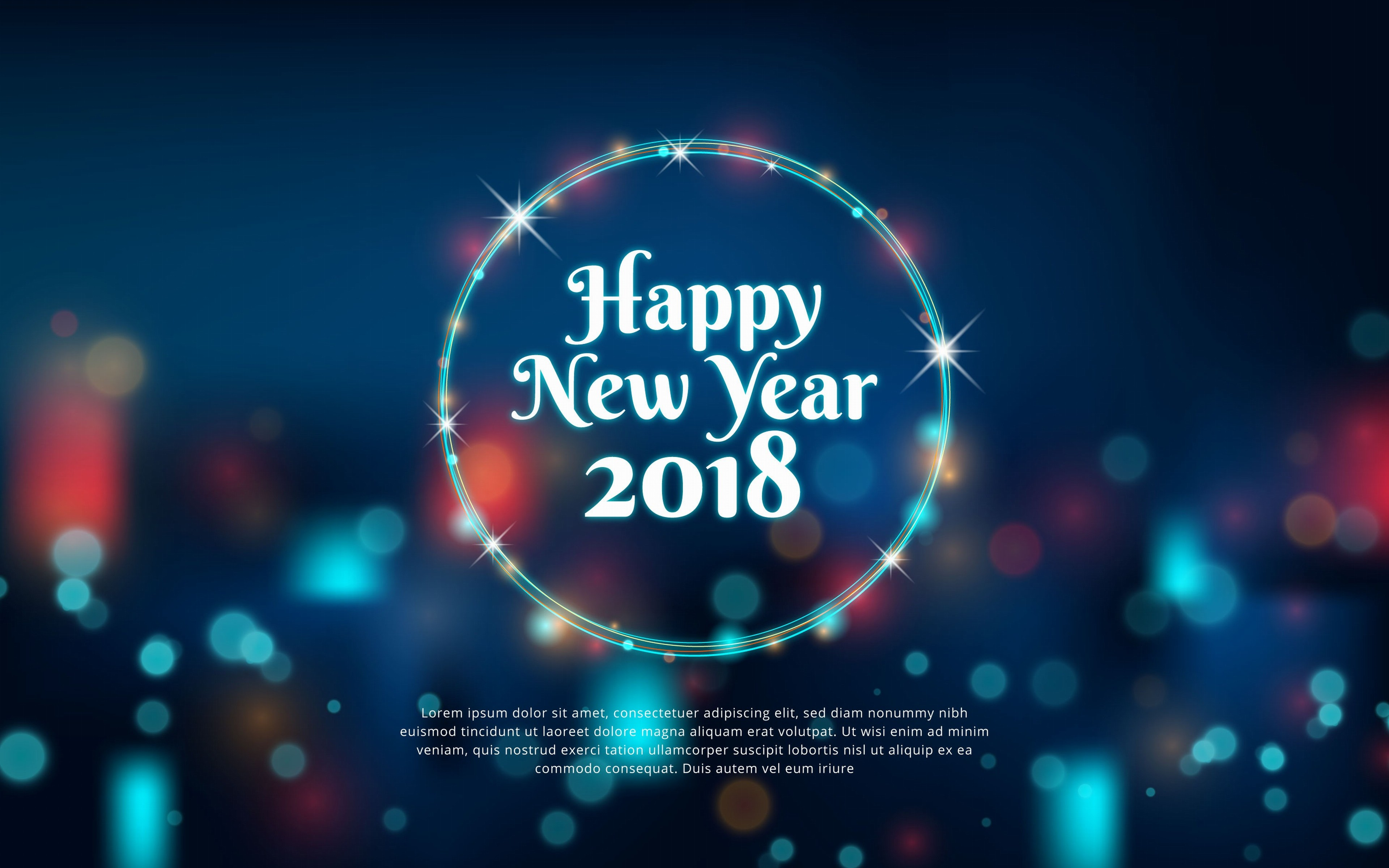 year 2018 full hd wallpaper download for happy new year 3840x2400