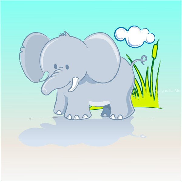 cartoon elephant wallpaper - photo #8