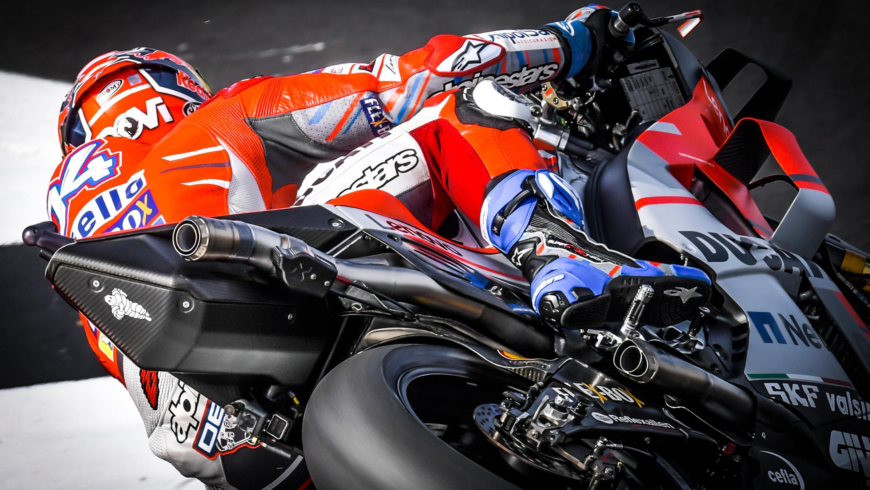 Andrea Dovizioso Ducati Corse Silverstone MotoGP 2018 Wallpapers 3000x1688