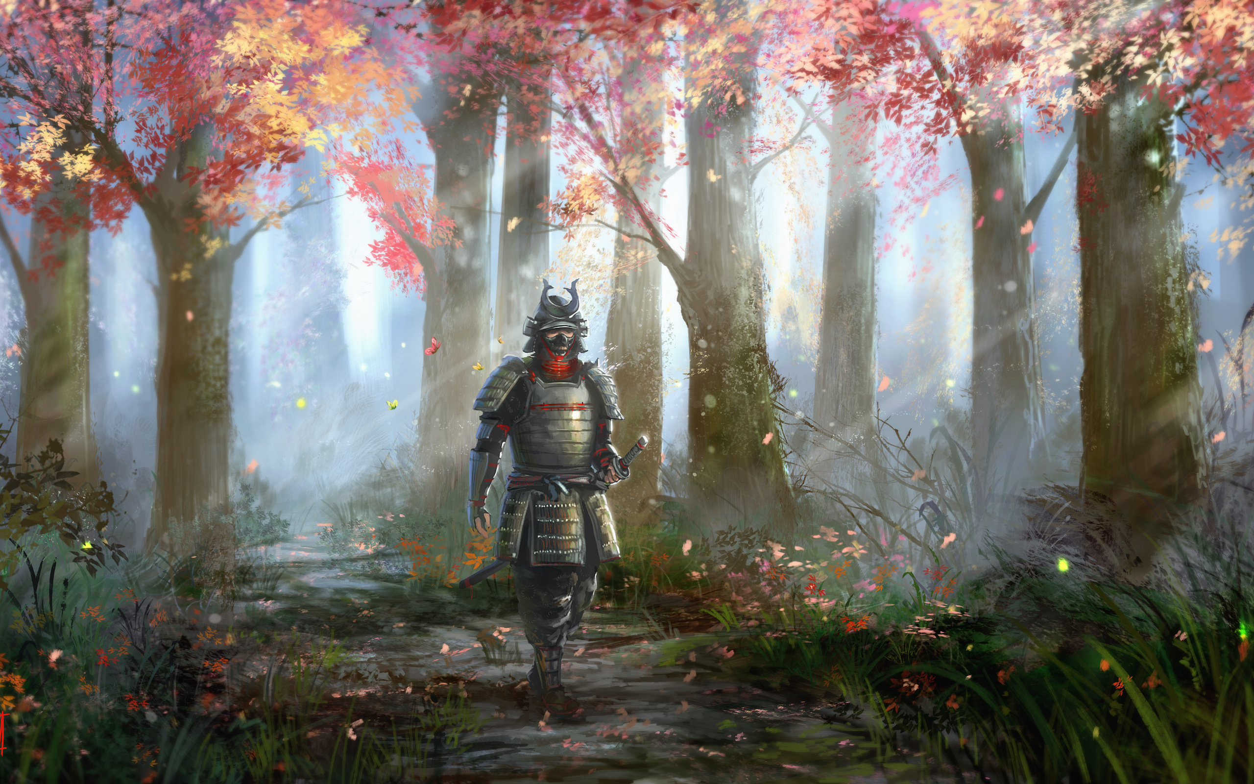 Free Download Samurai Hd Wallpaper Background Image
