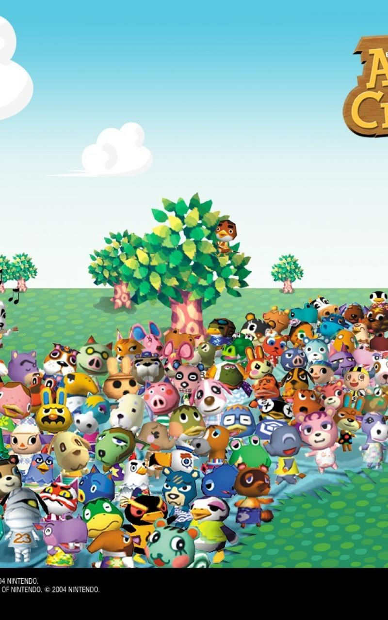 kawaii animal crossing wallpaper ipad