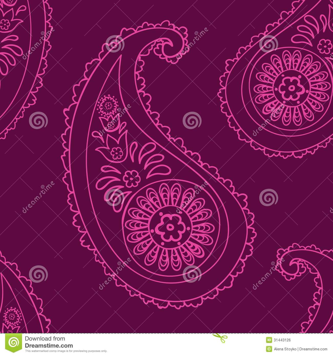 purple paisley wallpaper