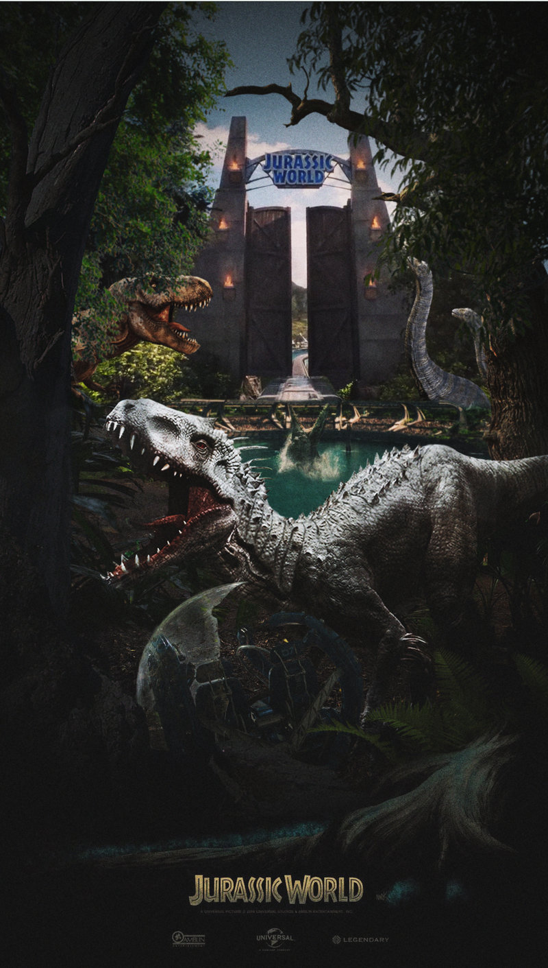 Jurassic World Raptor Iphone Wallpaper
