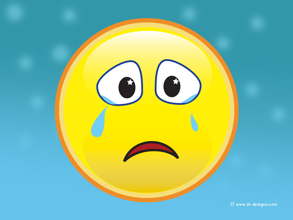 Download crying smiley face wallpaper for your desktop web site 1024x768