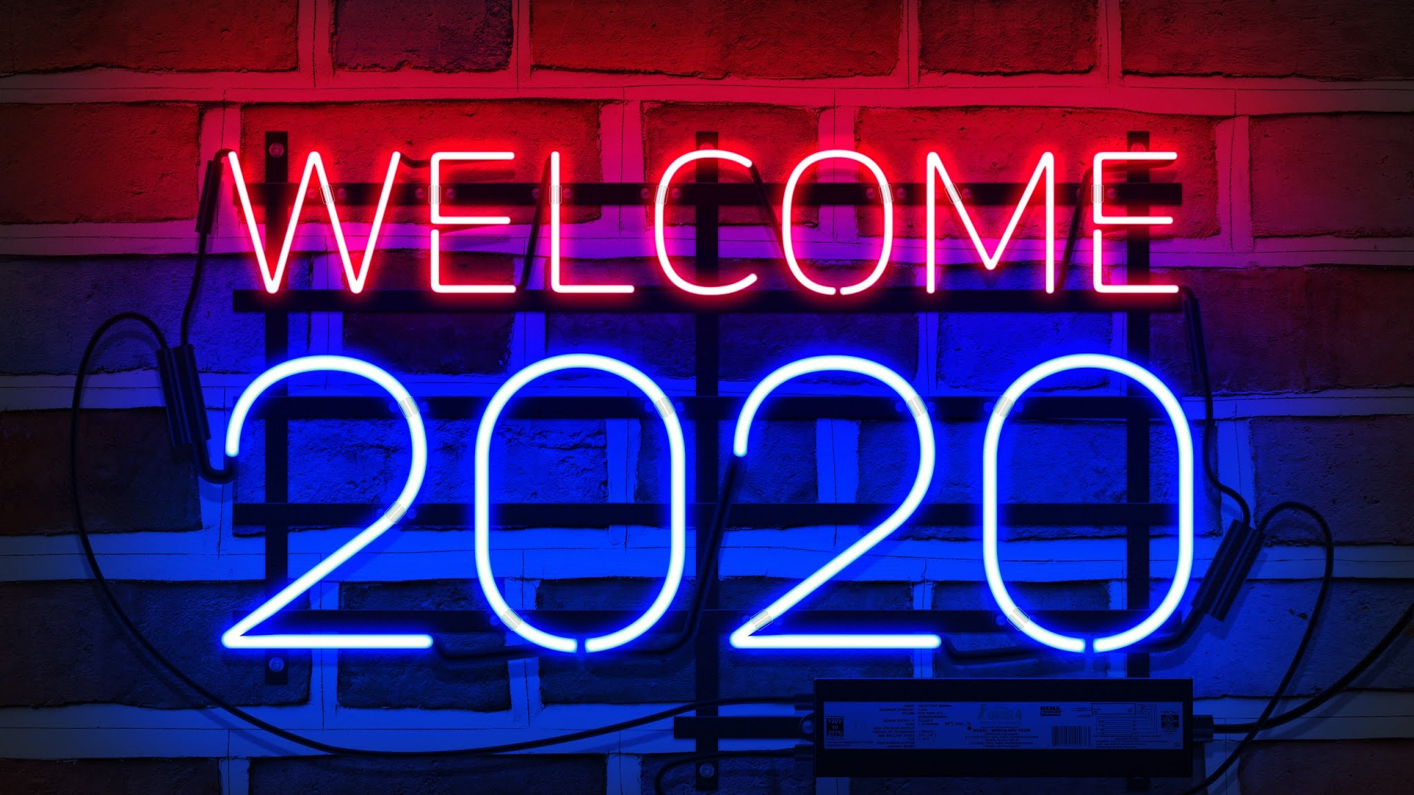 2020 New Year Wallpaper 2048x1152