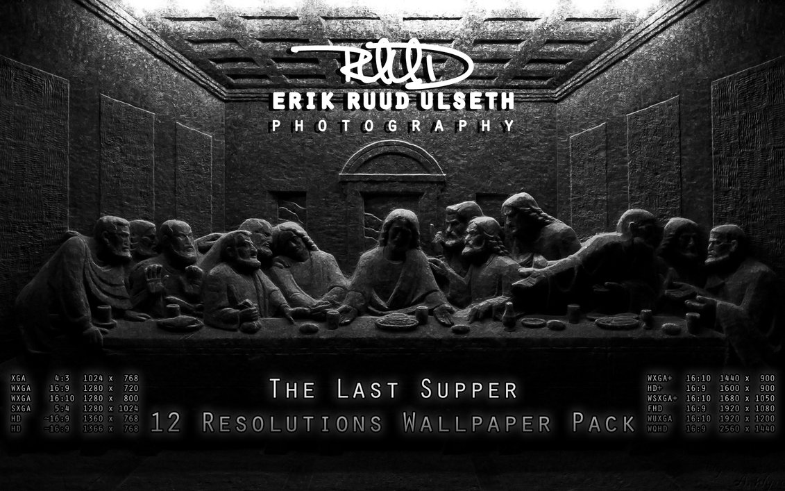The Last Supper 12 Resolutions Wallpaper Pack by RuudPhotography 1131x707