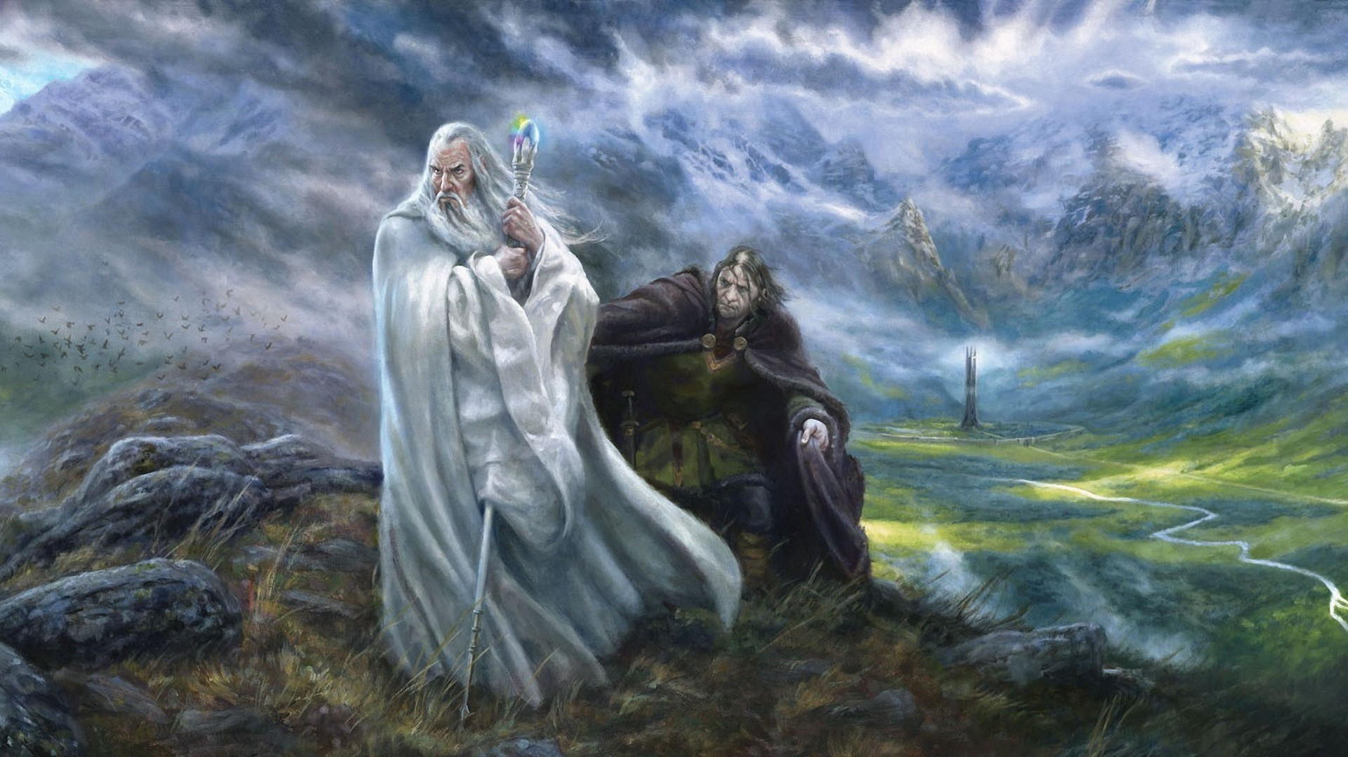 Saruman The Lord Of The Rings Fantasy Art Grima Wormtongue 1921x1080