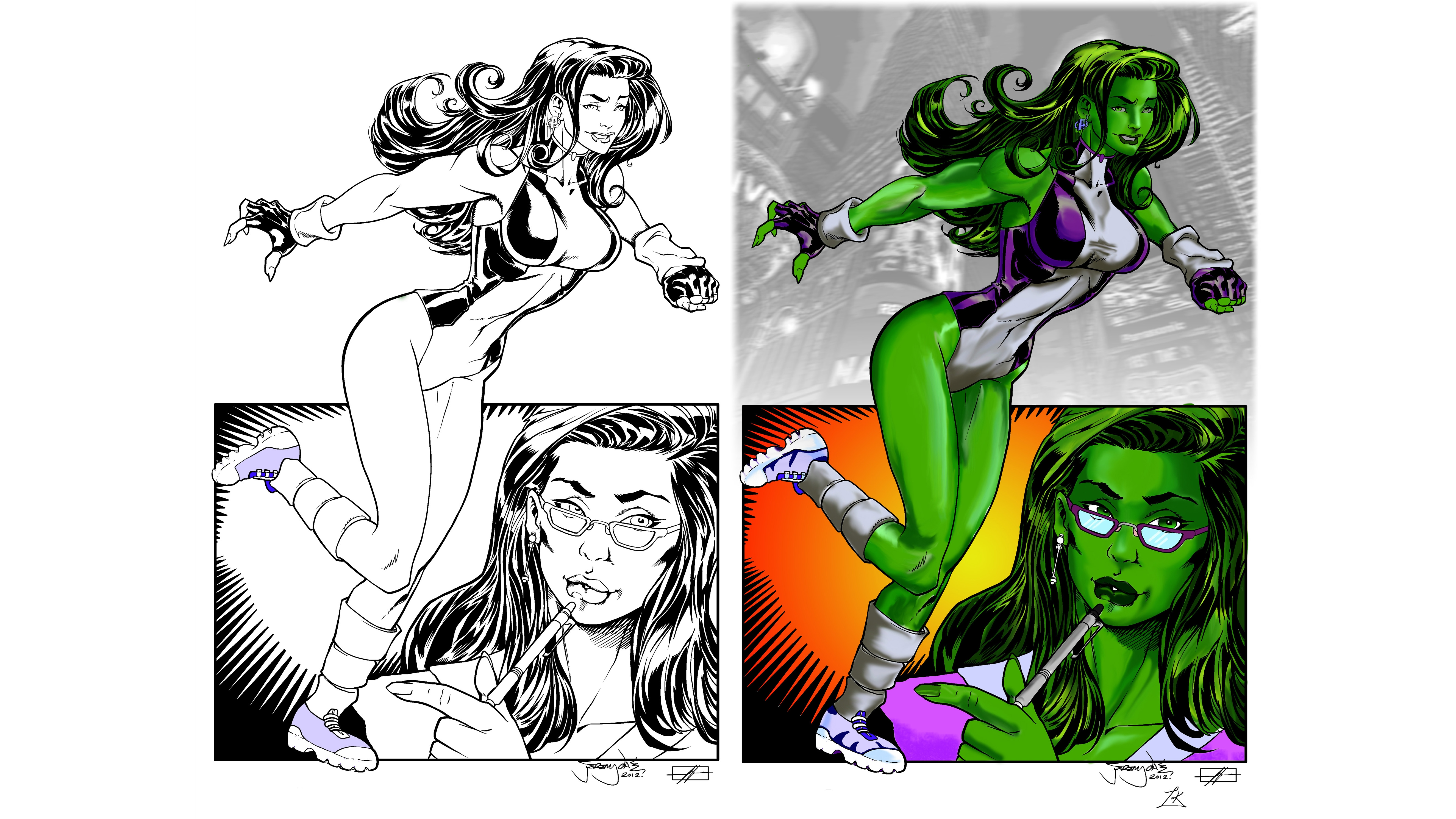 She Hulk Computer Wallpapers Desktop Backgrounds 5300x2981