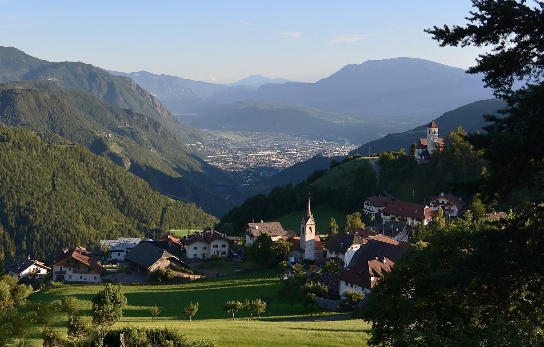 Wallpaper mountains Alps Italy The Dolomites Bolzano South 1332x850
