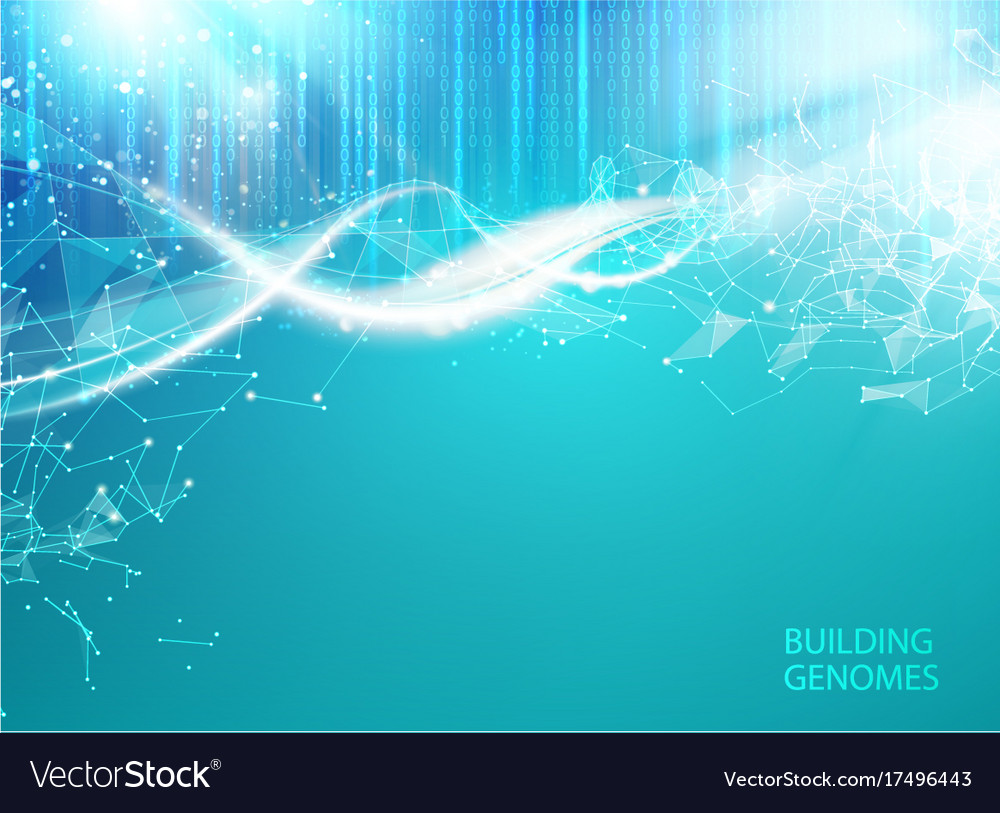 Blue background with dna Royalty Vector Image 1000x813
