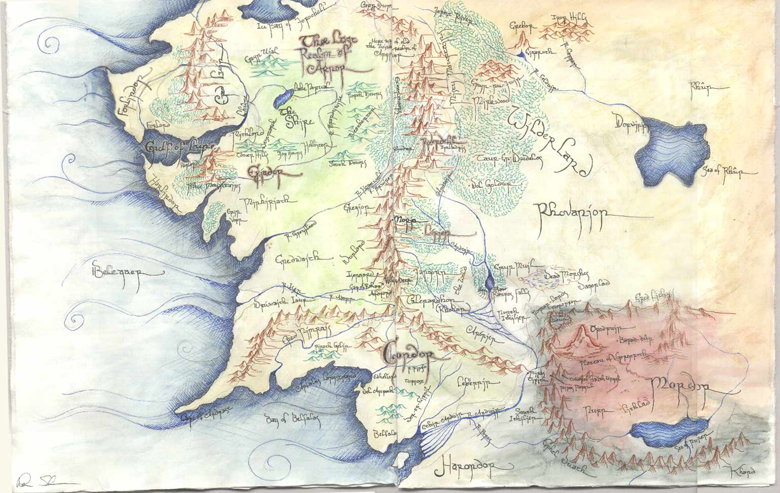 Map Of Middle Earth Wallpaper WallpaperSafari – The Map of Middle Earth