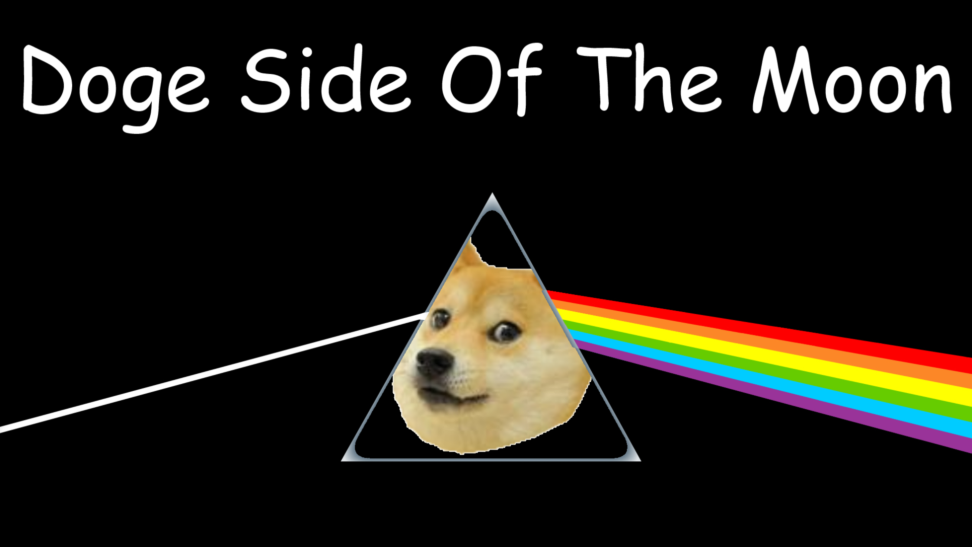 Doge Side of the Moon   Doge Wallpaper 1920x1080 28965 1920x1080