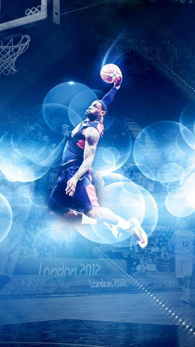NBA stars domineering iPhone 5 wallpapers 640x1136 Cool i Wallpapers 640x1136