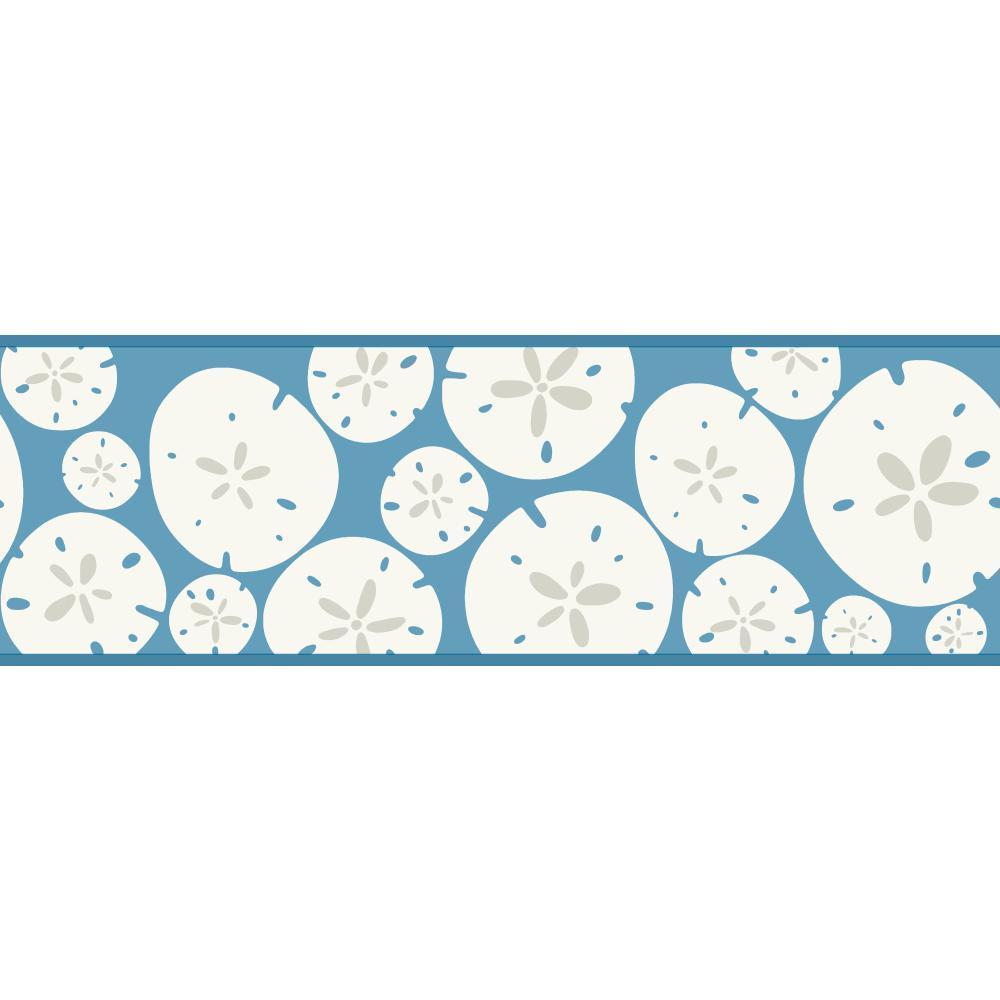 KB8545B Sand Dollar Border Nautical Beach Blue Wallpaper Border eBay 1000x1000