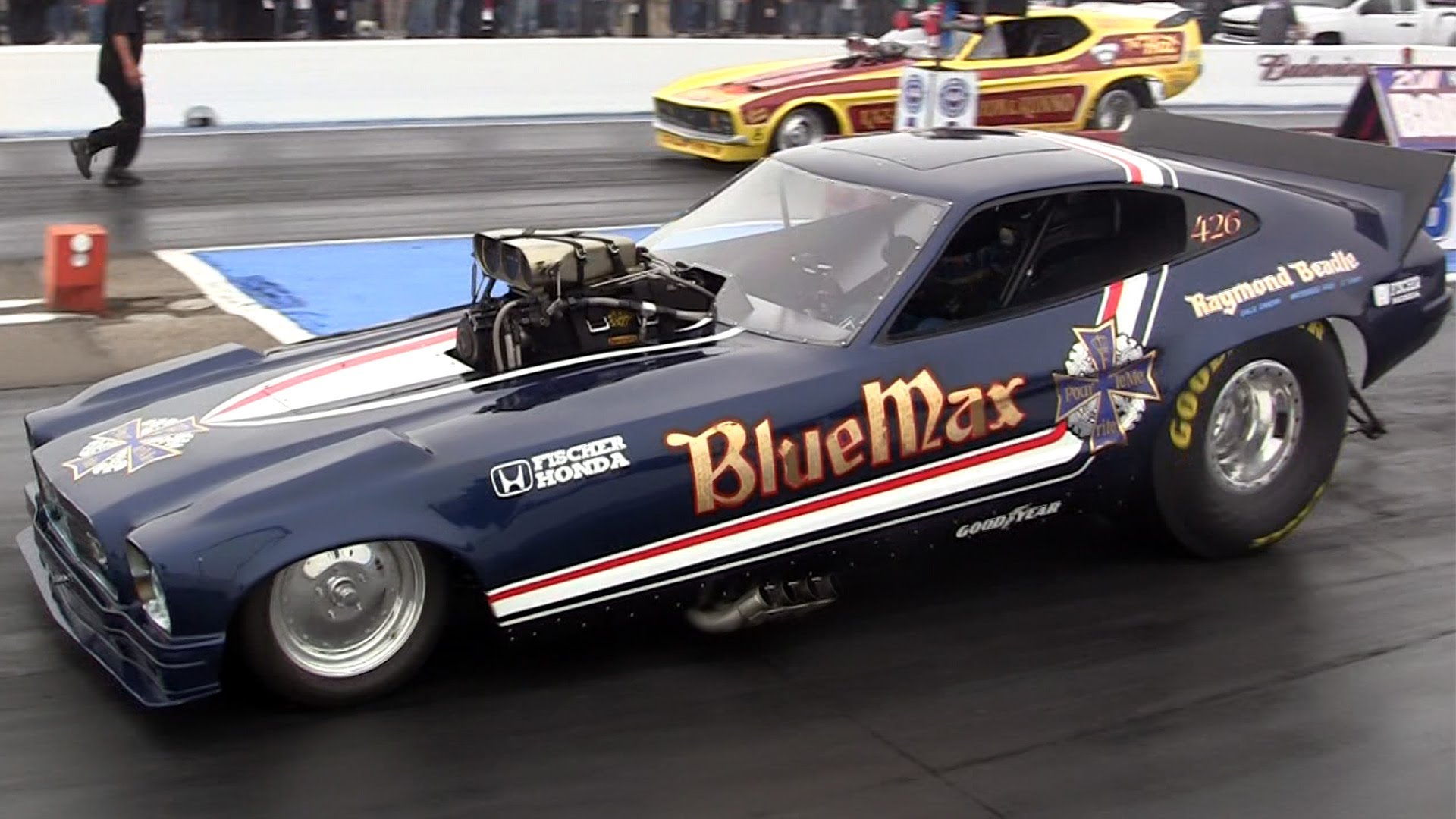 nhra drag racing race hot rod rods BLUE MAX ford mustang n wallpaper 1920x1080