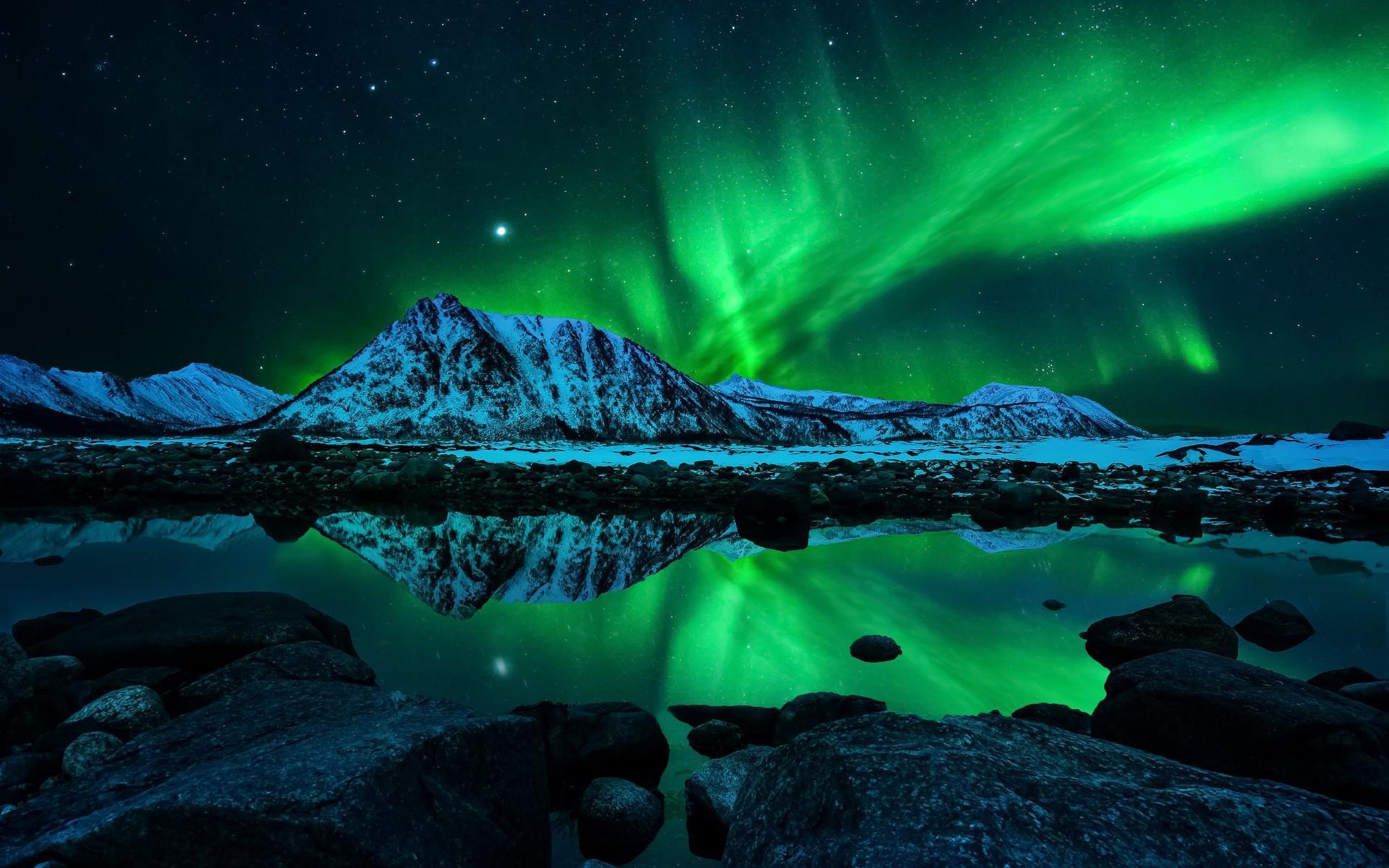 Northern Mountains Sky Lights HD desktop wallpaper : Widescreen : High ...
