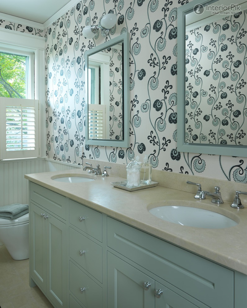 European style small bathroom wallpaper picture Bathroom 796x990