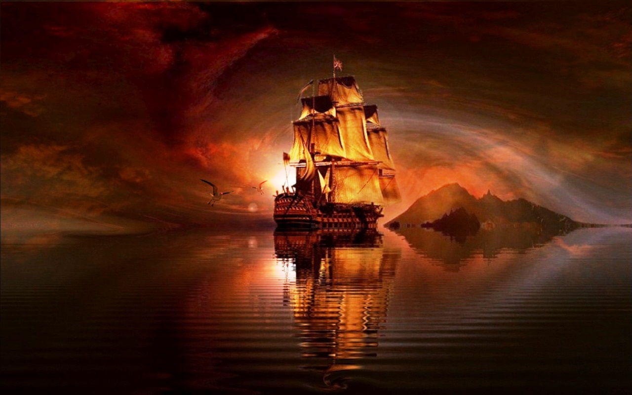 Free download pirate ship awesome hd desktop wallpaper download exclusive pirate 1280x800 for - Pirate background ...