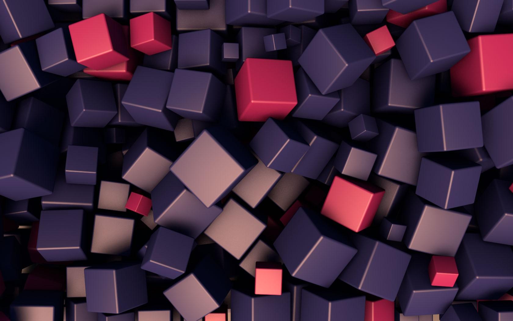 Cubes 3D Wallpaper 1680x1050 Cubes 3D 1680x1050