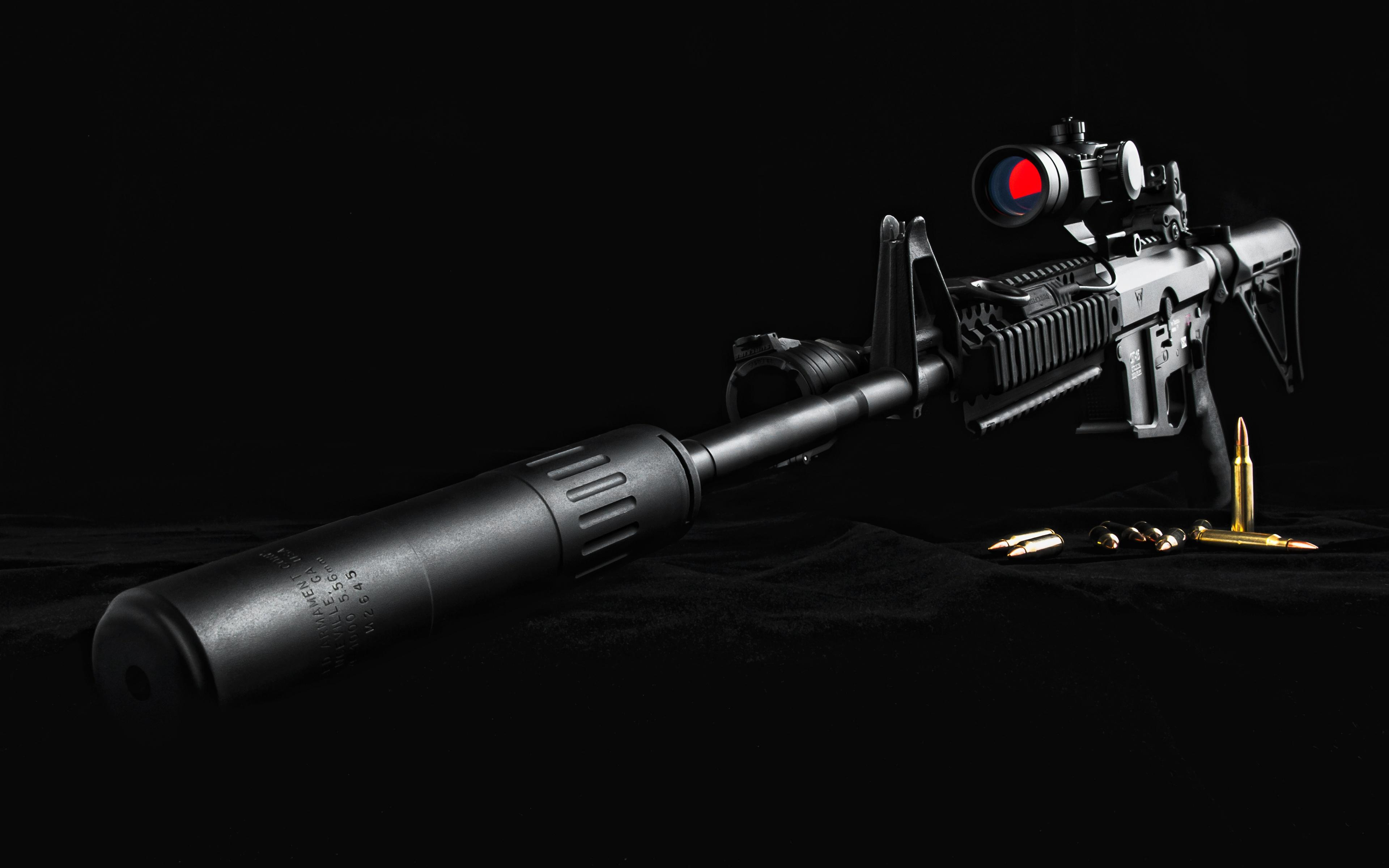 Sniper Rifle AR 15   Wallpaper 3840x2400