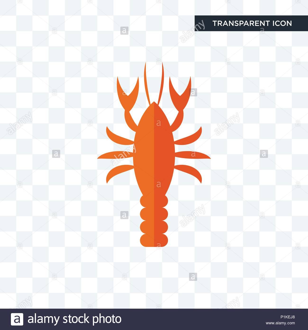 crawfish vector icon isolated on transparent background crawfish 1300x1390