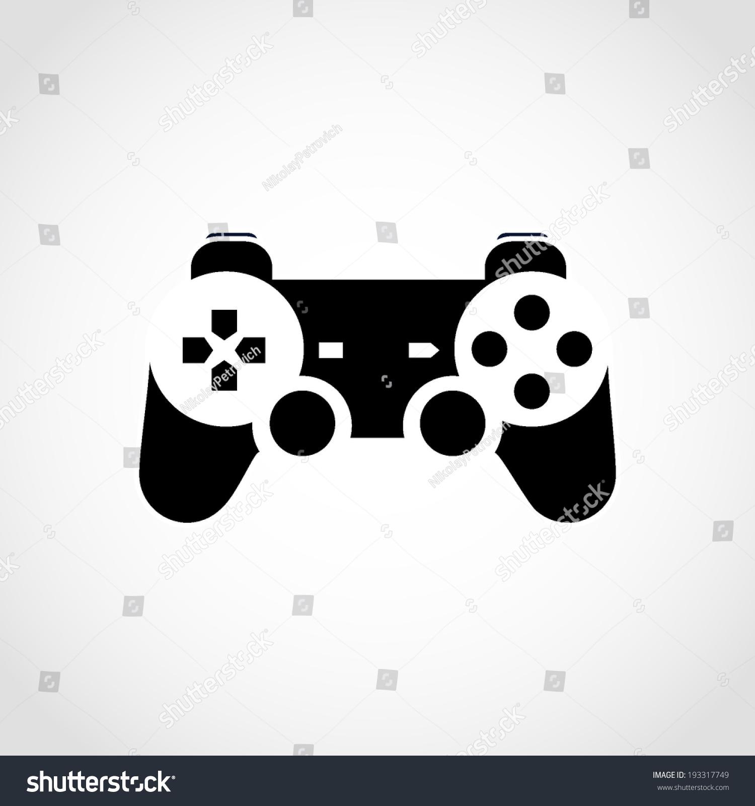 Gaming Joystick Icon Isolated On White Technology SignsSymbols 1500x1600