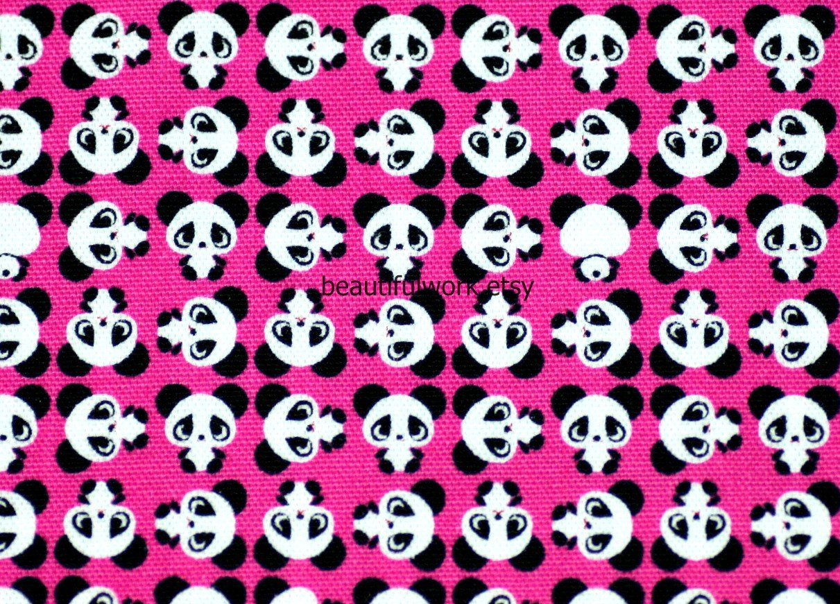 Super Kawaii Panda Print with light pink background From 1211x871