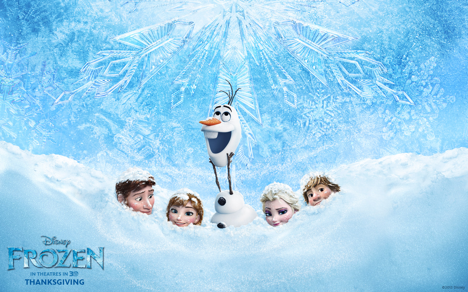 Olaf and Hans Disneys Frozen CG animated movie wallpaper image 1920x1200