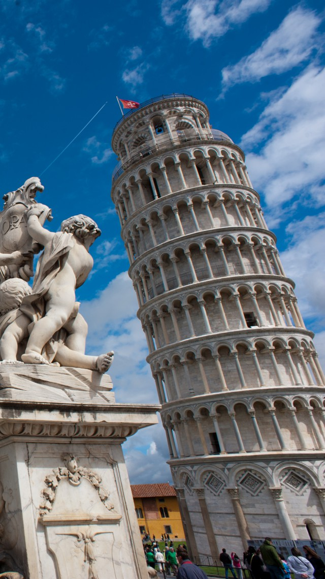 Wallpaper Leaning Tower of Pisa Italy Travel Tourism 640x1138