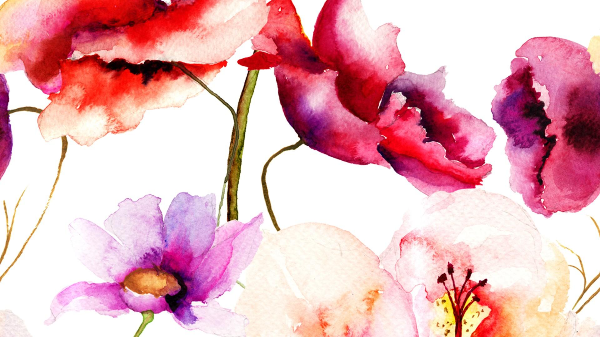 Free Download Flower Watercolor Wallpaper Hd 14 High Resolution