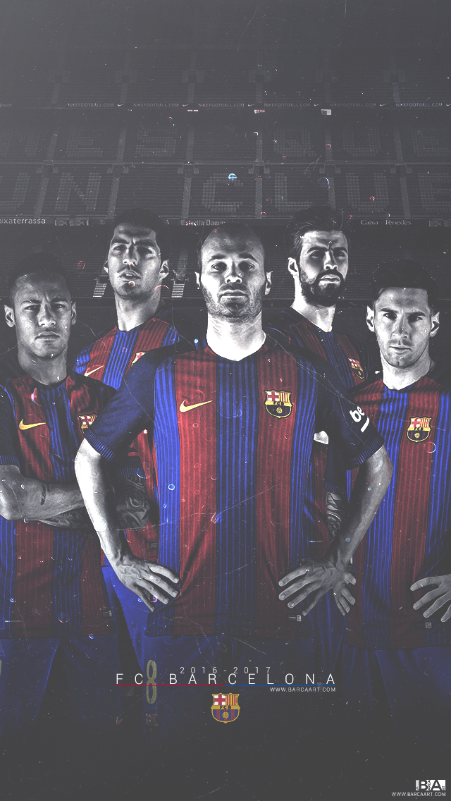 FC Barcelona 2017 Wallpapers 640x1136