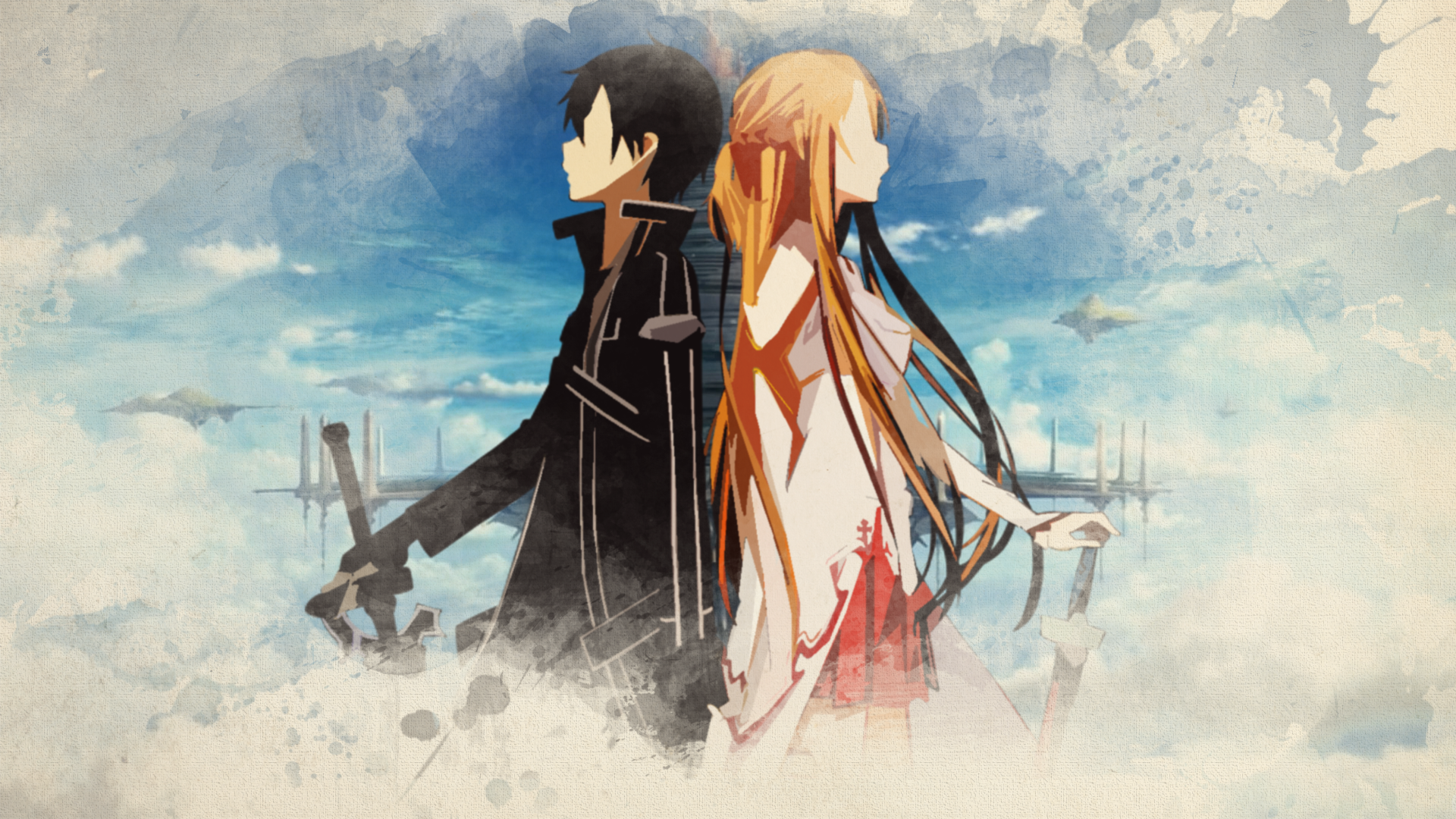 Free Download Kirito And Asuna Wallpaper By Bluebeasts Watch Fan Art Wallpaper 1920x1080 For Your Desktop Mobile Tablet Explore 44 Kirito Wallpaper Download Sao Kirito Wallpaper Hd Kirito Iphone