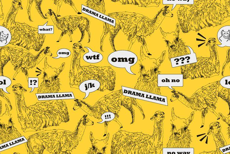 Drama Llama Desktop Wallpaper I love llamas Pinterest 736x494